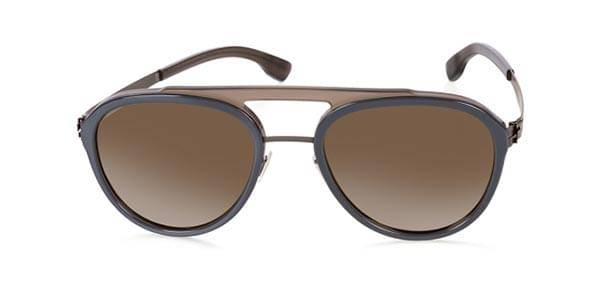 Ic! Berlin Aurinkolasit D0028 Daniel D. Polarized Graphite Rocky Grey Milky - Dark Brown Mirrored