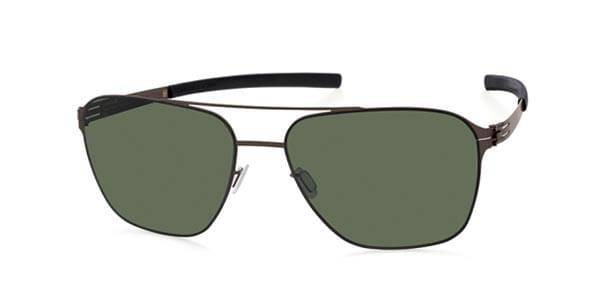 Ic! Berlin Aurinkolasit M1406 Jonathan I. large Polarized Graphite - Green