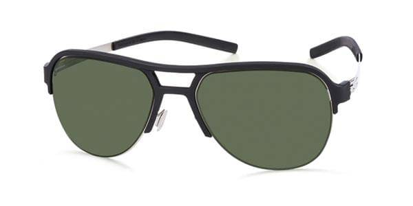 Ic! Berlin Aurinkolasit RH0002 Pulse Polarized Black Rubber - Green