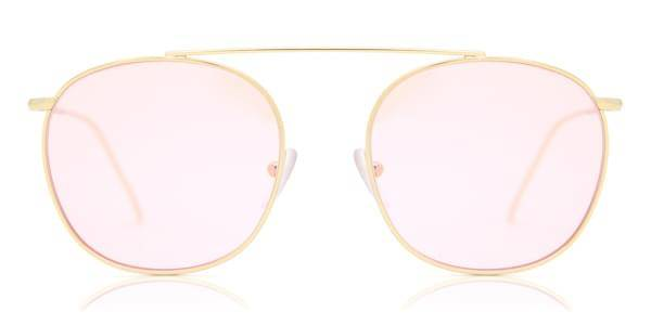 Illesteva Aurinkolasit Mykonos II Gold With Dusty Pink See Through Lenses