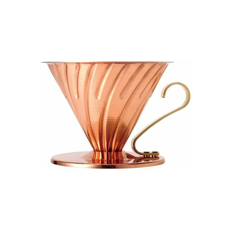 Hario V60 Copper Dripper koko 02 kuparinen suodatinsuppilo