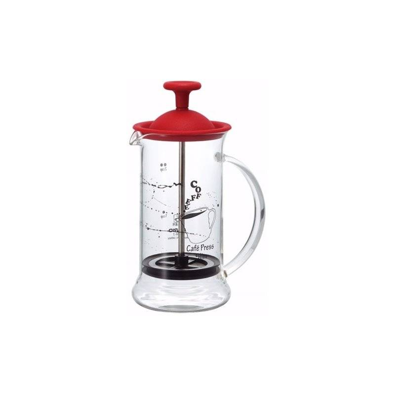 Hario Cafe Press Slim pressopannu 240 ml. punainen