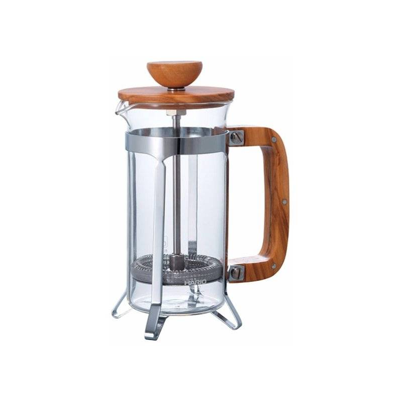Hario Cafe Press Olive Wood 300 ml pressopannu