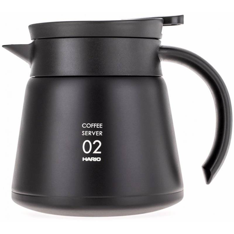 Hario V60 02 Insulated Stainless Steel Server 600 ml. musta