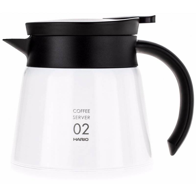Hario V60 02 Insulated Stainless Steel Server 600 ml. valkoinen