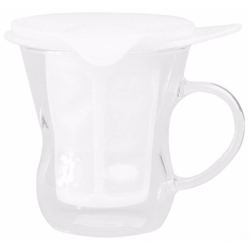 Hario One Cup Tea Maker 200 ml. valkoinen