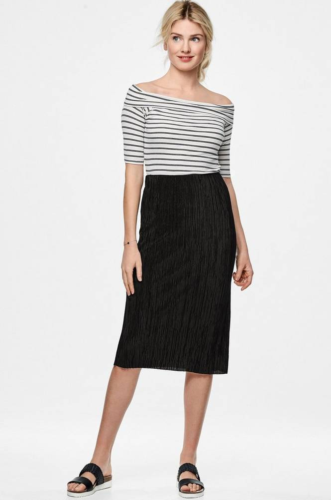 MORE THAN BASIC The plissé tube skirt -hame