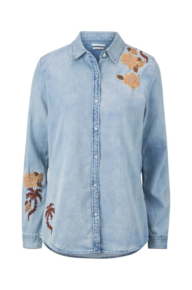 Scotch & Soda Light Wash Denim Shirt -farkkupaita