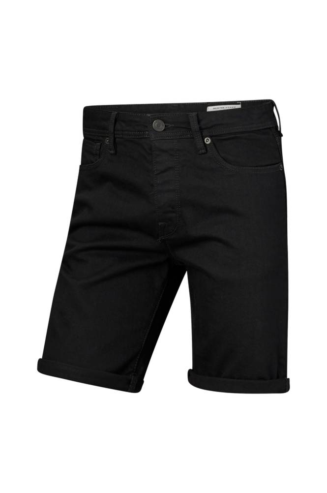 Selected Homme ShnAlex 313 Black ST Denim -farkkushortsit
