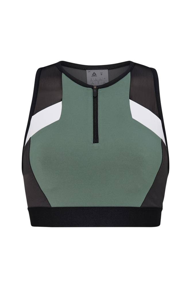 Reebok Performance Color Block Crop Top -treenitoppi