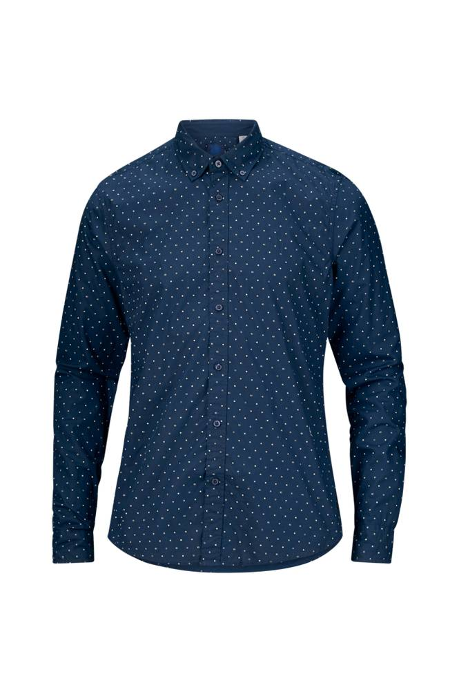 Scotch & Soda Ams Blauw slim fit -kauluspaita