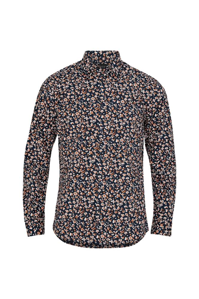Selected Homme Print Shirt Slim -kauluspaita