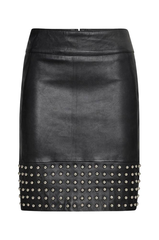 By Malina Aya Leather Skirt -nahkahame