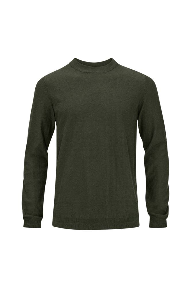 Selected Homme SlhPage Cashmere Camp Crew Neck B -neulepusero