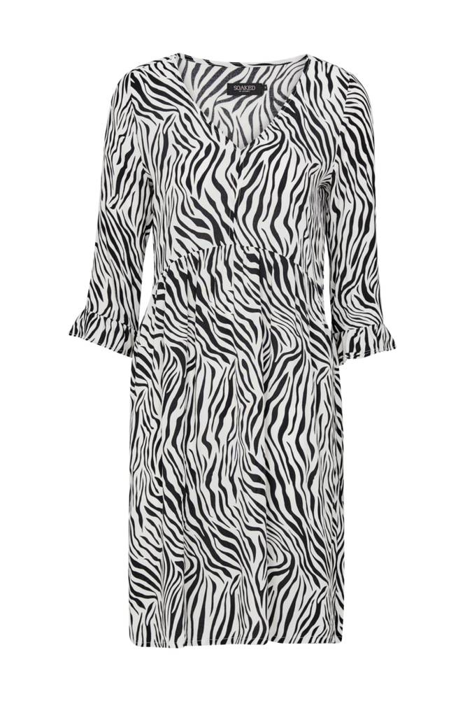 Soaked in Luxury Oline Zebra Dress -mekko