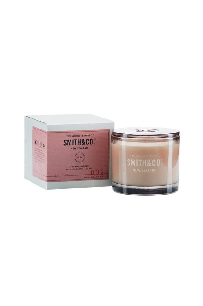 Smith & Co. Elderflower & Lychee Candle 50 h