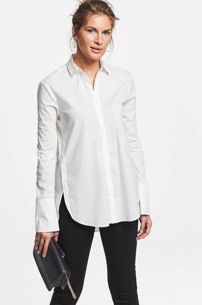 MORE THAN BASIC The round hem shirt -paitapusero
