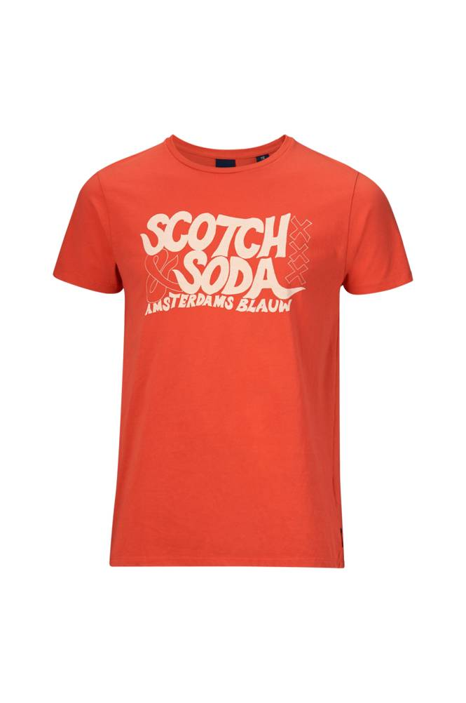 Scotch & Soda Ams Blauw -T-paita