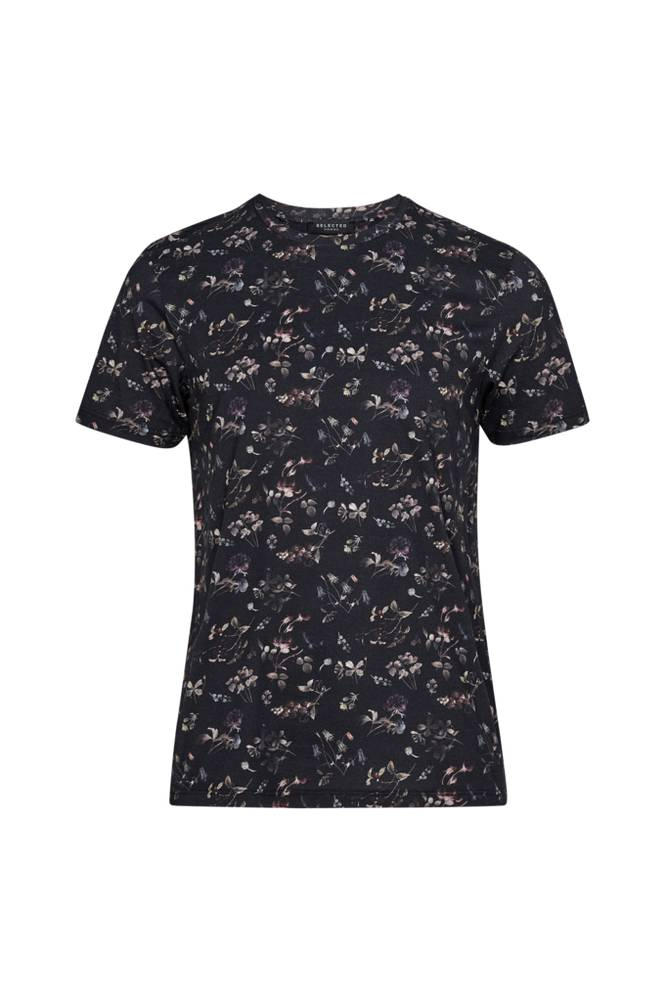 Image of Selected Homme SlhKim AOP SS O-Neck Tee B -T-paita