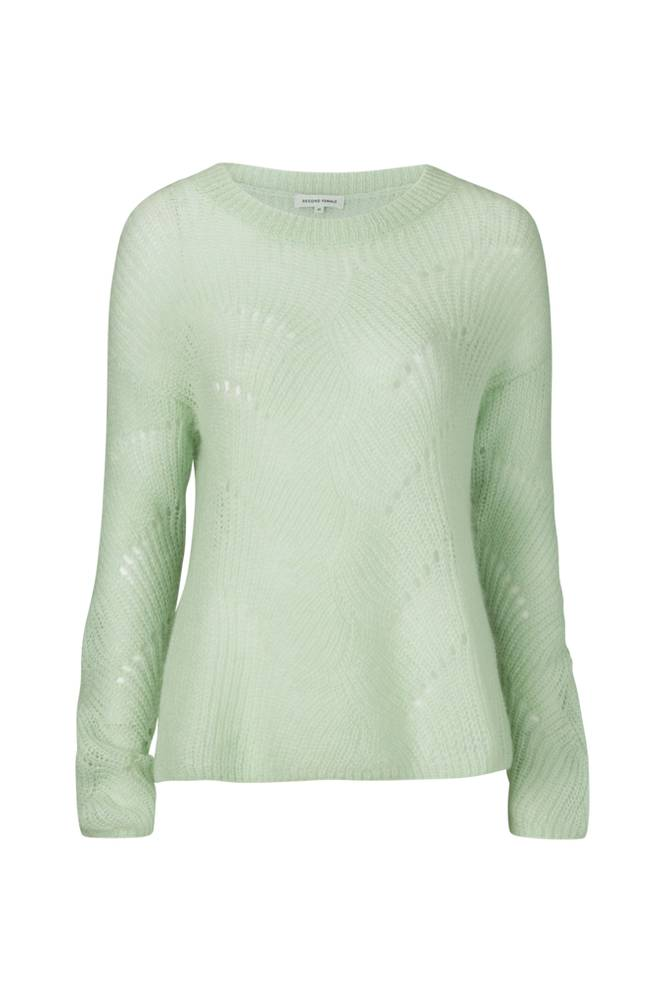 Second Female Jade Knit O-neck -neulepusero