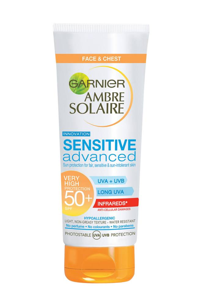 Garnier Ambre Solaire  Sensitive Advanced  Face Cream SPF50+ , 50ml