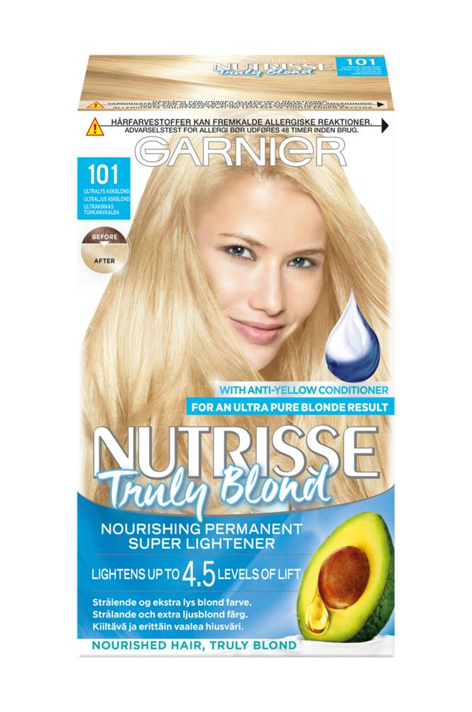 Garnier Nutrisse Truly Blond Ultra Light Ash Blonde 101