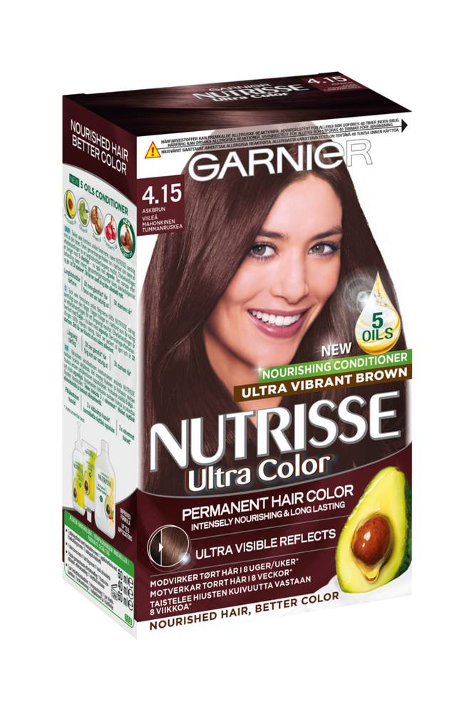 Garnier NUTRISSE ULTRA COLOR Iced Chestnut 4.15