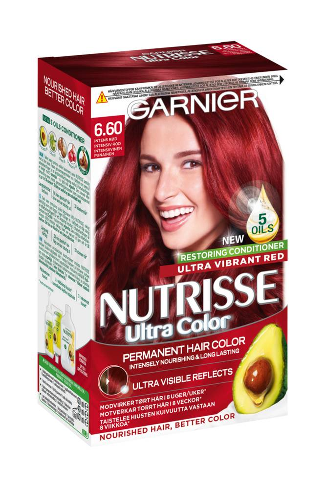 Garnier Nutrisse Ultra Color Intensiv Punainen 6.60