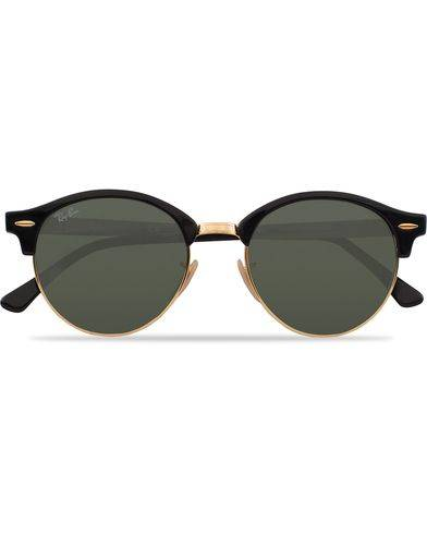 Ray Ban 0RB4246 Clubround Sunglasses Black/Green