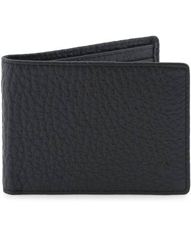 Oscar Jacobson Grained Leather Card Wallet Black
