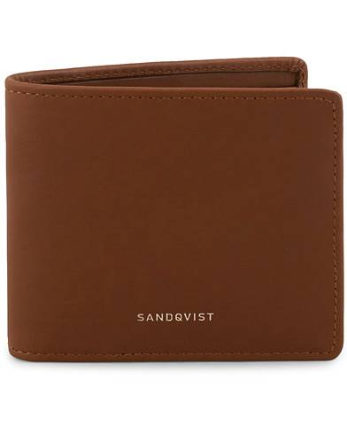 Sandqvist Manfred Vegetable Tanned Leather Wallet Cognac Brown