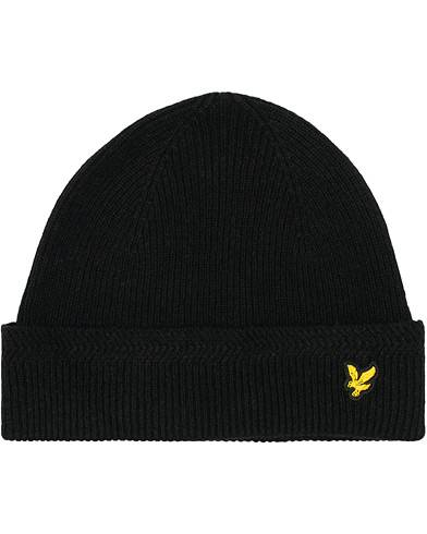 Lyle & Scott Racket Rib Beanie True Black