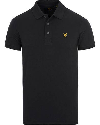 Lyle & Scott Plain Pique Polo Shirt True Black