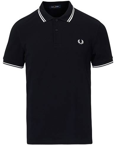 Fred Perry Slim Fit Polo Twin Tip Navy/White