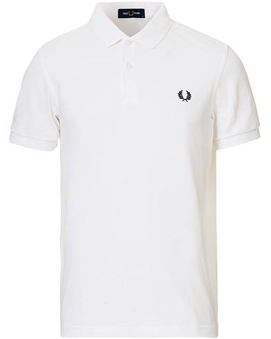 Fred Perry Slim Fit Plain Polo White