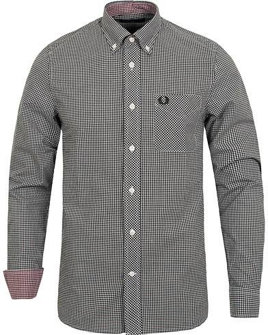 Fred Perry Classic Fit Gingham Shirt Black