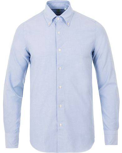 Finamore Napoli Slim Fit Oxford Button Down Shirt Light Blue