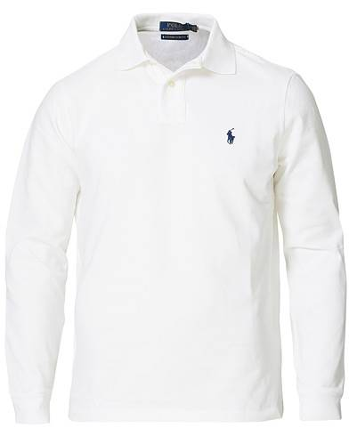 Image of Ralph Lauren Core Fit Long Sleeve Polo White