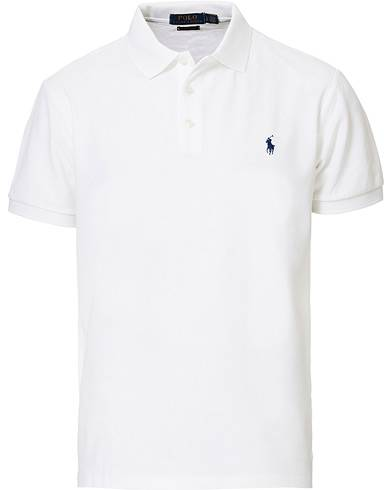 Image of Ralph Lauren Slim Fit Stretch Polo White