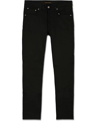 Nudie Jeans Lean Dean Organic Slim Fit Jeans Dry Ever Black