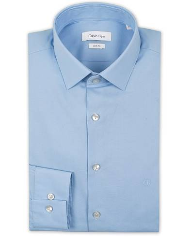Calvin Klein Bari Slim Fit Stretch Poplin Shirt Light Blue