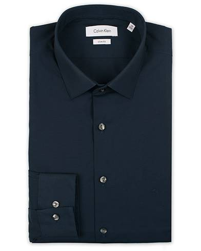 Calvin Klein Bari Slim Fit Stretch Poplin Shirt Midnight Blue