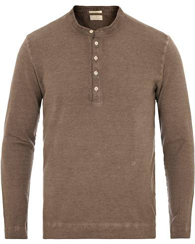 Massimo Alba Hawaii Cotton/Cashmere Grandpa Brown