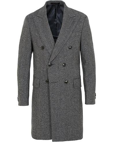 Oscar Jacobson Saul Wool/Cashmere Double Breasted Coat Grey
