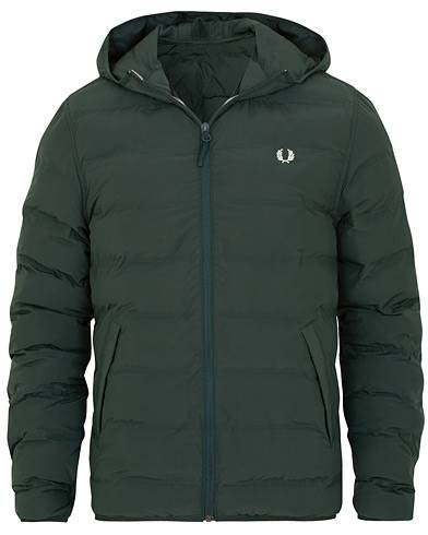 Fred Perry Insulated Hooded Jacket Dark Green