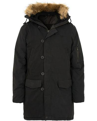 Fred Perry Down Snorkel Parka Black