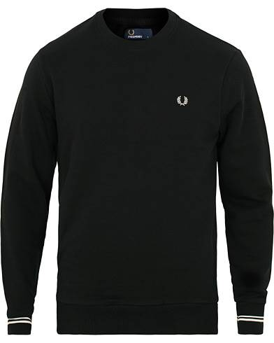 Fred Perry Crew Neck Sweat Black