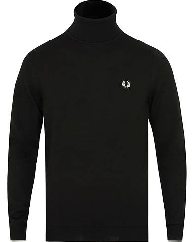 Fred Perry Merino Rollneck Black