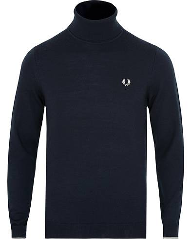 Fred Perry Merino Rollneck Navy