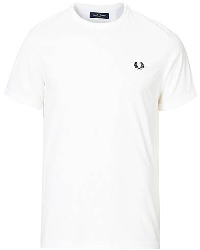 Fred Perry Ringer Crew Neck Tee White